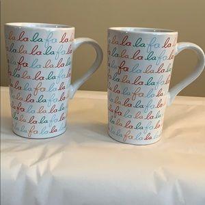 "NEW! Set of 2 Holiday Mugs 6"" x 3 1/2"""